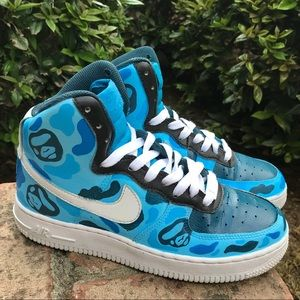 Nike Shoes Air Force 1 High Top Custom Bape Sneakers Poshmark